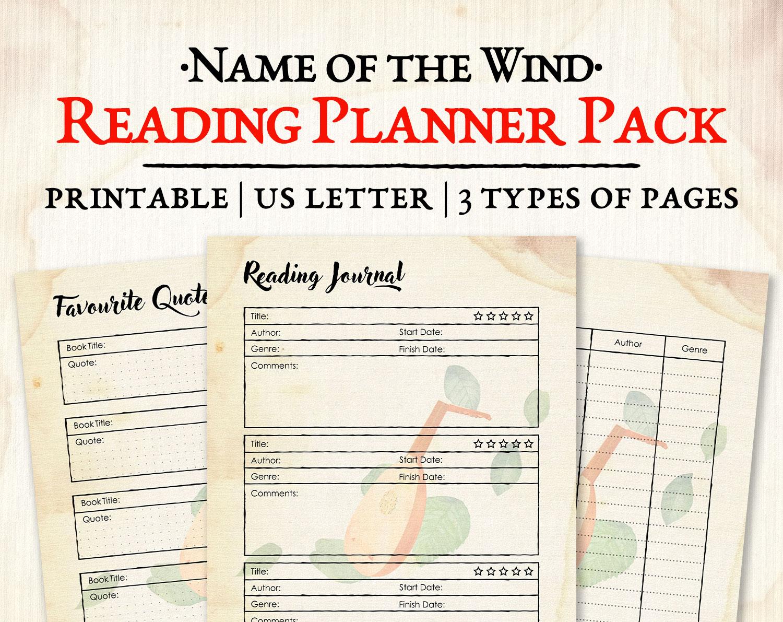 Reading Planner Pack